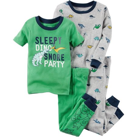 Carters Baby Boys 4-pc. Sleepy Dino Pajama Set