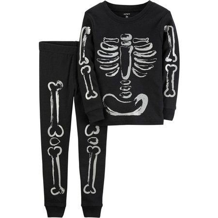 Carters Baby Unisex Skeleton Pajama Set