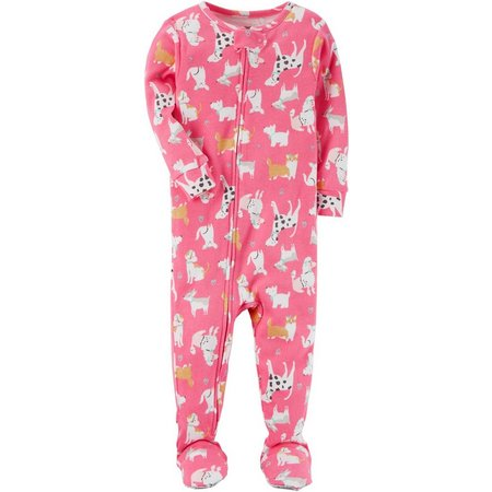 Carters Baby Girls Dog Sleep & Play
