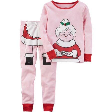 Carters Baby Girls Mrs. Claus Pajama Set