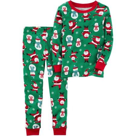 Carters Baby Unisex Santa & Snowman Pajama Set