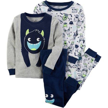 Carters Baby Boys 4-pc. Monster Pajama Set