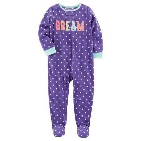 Carters Baby Girls Polka Dot Dream Sleep &