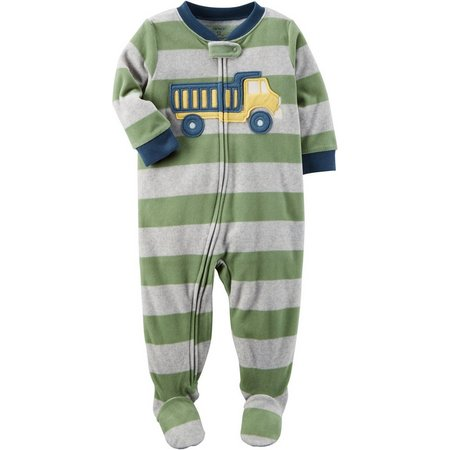 Carters Baby Boys Stripe Dump Truck Sleep &