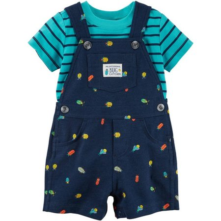 Carters Baby Boys Bug Crawl Shortalls Set