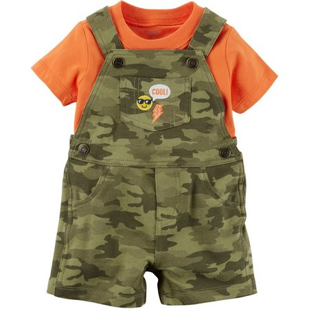 Carters Baby Boys Camouflage Shortalls Set