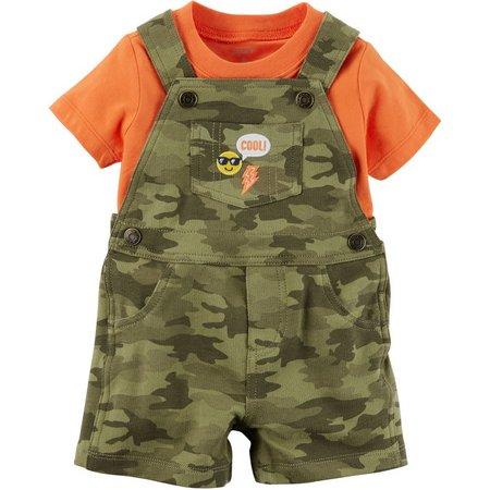 Carters Baby Boys Camouflage Shortalls Set