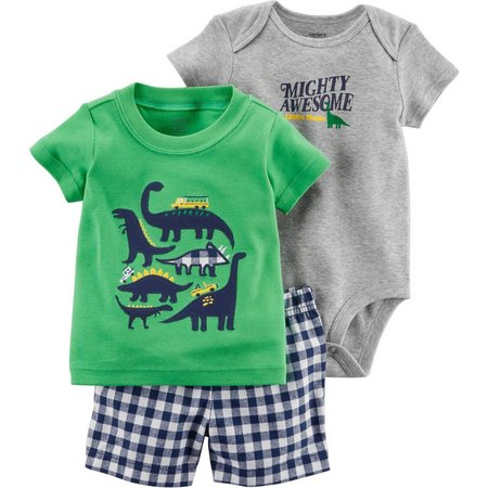 Carters Baby Boys 3-pc. Mighty Awesome Dino Layette