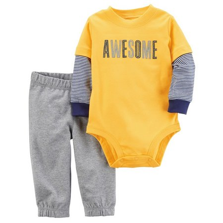 Carters Baby Boy 2-pc. Awesome Bodysuit & Pant
