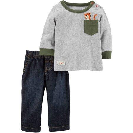 Carters Baby Boys Tiger Pocket Jeans Set
