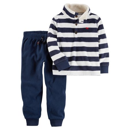 Carters Baby Boys 2-pc. Striped Top & Jogger