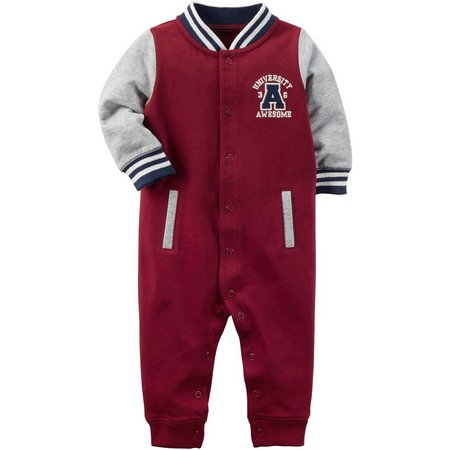 Carters Baby Boys University Awesome Jumpsuit