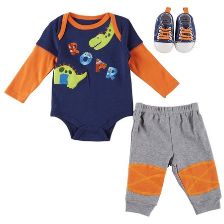 Buster Brown Baby Boys 3-pc. Roar Layette Set