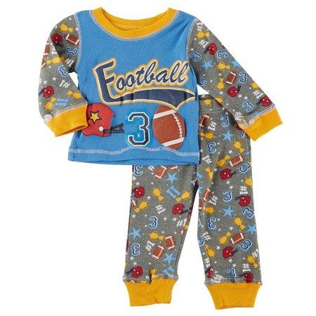 Sol Sleep Baby Boys Football Pajama Set