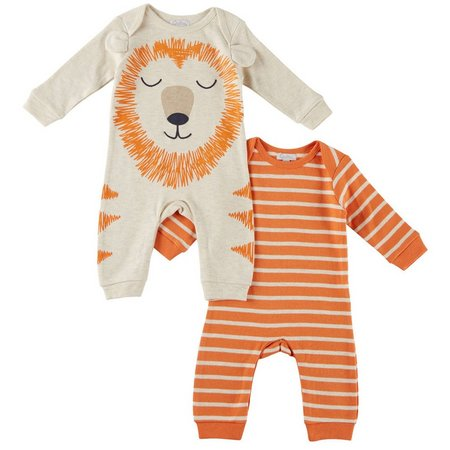 Quiltex Baby Boys 2-pk. Lion Coveralls