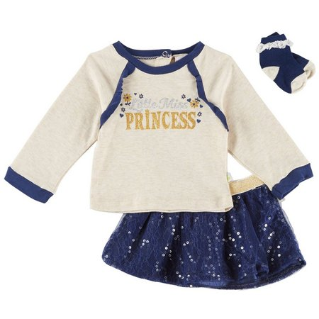 Duck Duck Goose Baby Girls 3-pc. Princess Skirt
