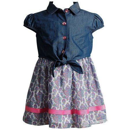Youngland Baby Girls 2-pc. Paisley Popover Dress