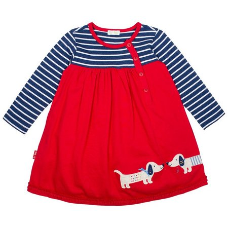 Little Lamb Baby Girls Doggie Duet Dress
