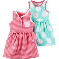 Carters Baby Girls 2-pk. Dots & Stripe Dress
