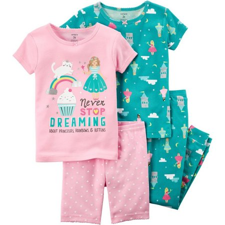 Carters Baby Girls 4-pc. Never Stop Dreaming Pajama