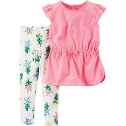 Carters Baby Girls Flutter Floral Leggings Set