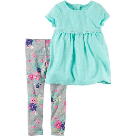 Carters Baby Girls Babydoll Floral Leggings Set