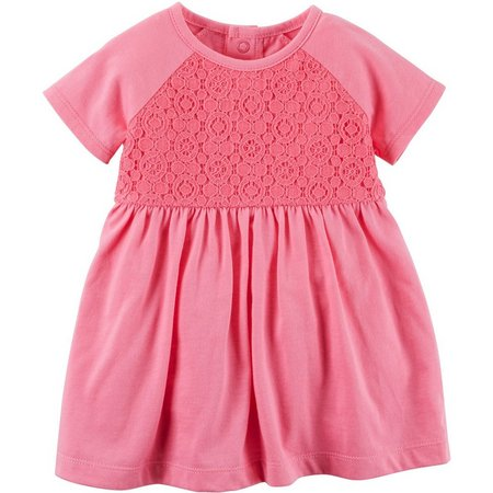 Carters Baby Girls Lace Bodice Dress