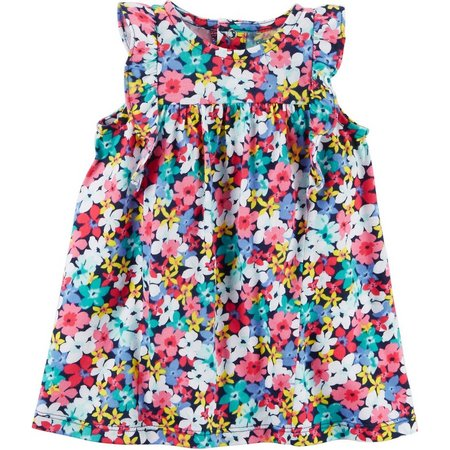 Carters Baby Girls Floral Flutter Dress
