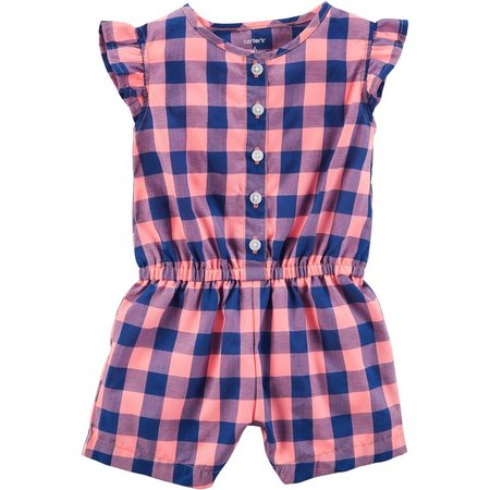 Carters Baby Girls Plaid Romper