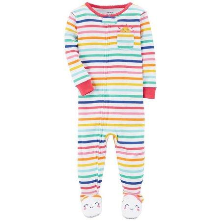 Carters Baby Girls Stripe Pocket Sleep & Play