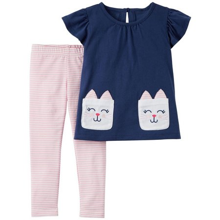 Carters Baby Girls Bunny Rabbit Leggings Set