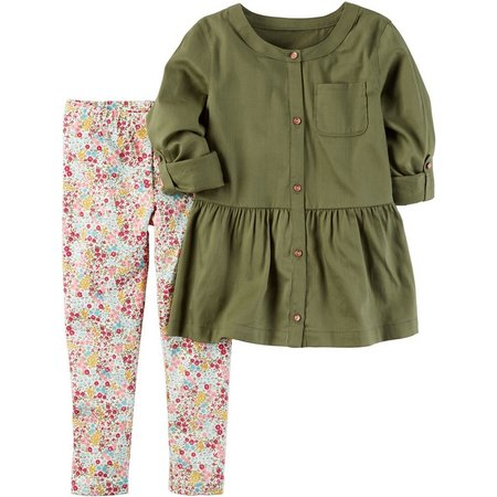 Carters Baby Girls Peplum Tunic Leggings Set