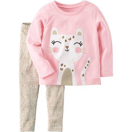 Carters Baby Girls Happy Cat Pants Set