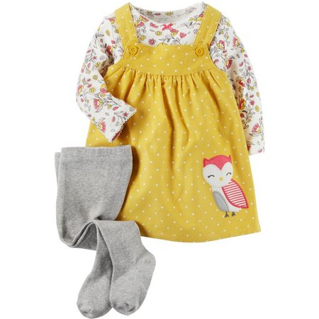 Carters Baby Girl 3-pc. Owl Tee and Jumper