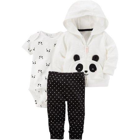 Carters Baby Girls 3-pc. Panda Jacket Layette Set