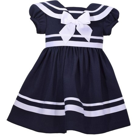Bonnie Jean Baby Girls Stripe Sailor Dress