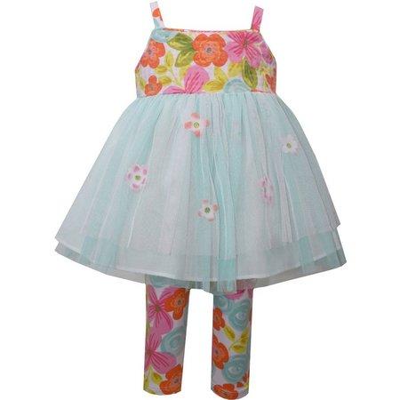 Bonnie Jean Baby Girls Floral TuTu Leggings Set