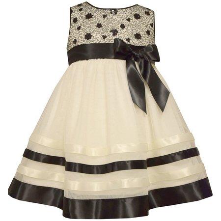 Bonnie Jean Baby Girls Floral Lace Dress