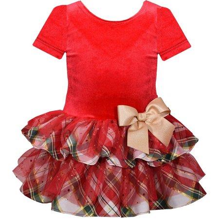 Bonnie Jean Baby Girls Plaid Drop Waist Dress