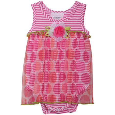 Bonnie Jean Baby Girls Rose Dress