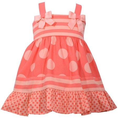 Bonnie Jean Baby Girls Striped Dot Dress