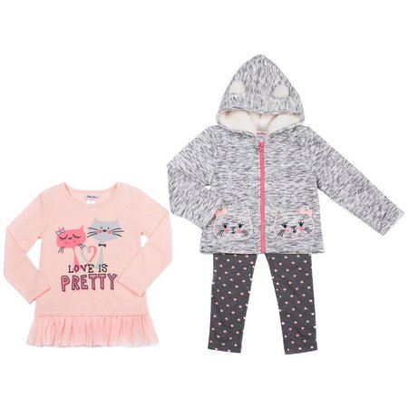 Little Lass Baby Girls 3-pc. Cat Sweater Layette