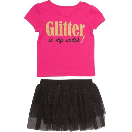 Babies with Attitude Baby Girls Glitter My Color