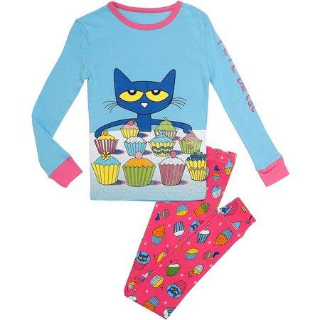 Pete The Cat Baby Girls Cupcake Pajama Set