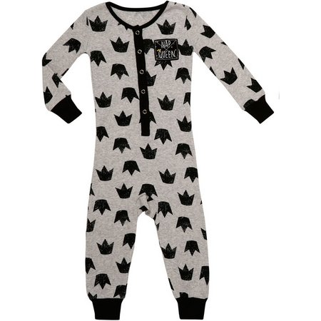 Babies with Attitude Baby Girls Sleep Queen Jumpsuit