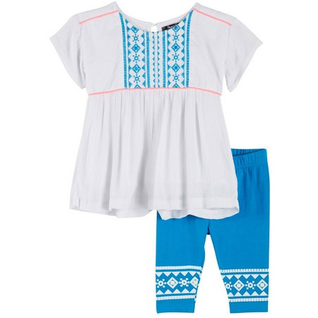 Kensie Baby Girls Diamond Tunic Leggings Set