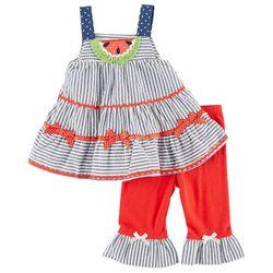 Nannette Baby Girls Watermelon Leggings Set