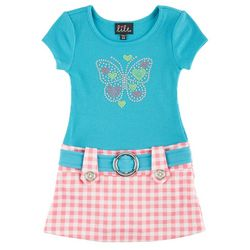 New! Lilt Baby Girls Butterfly Marsha Dress