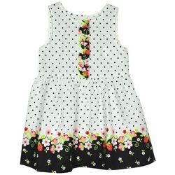Samara Baby Girls Strawberry Dot Dress