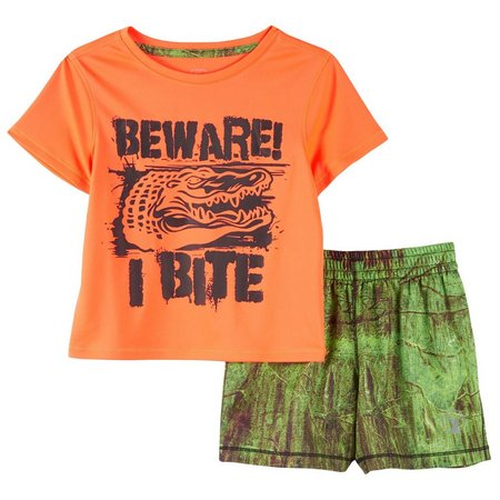 Southern Legends Baby Boys Beware Shorts Set